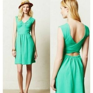 Anthropologie Postmark fit and flare dress cutout